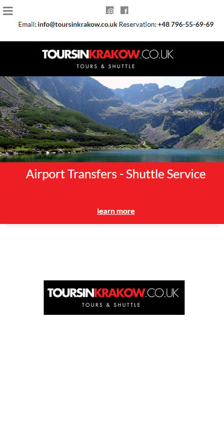 Strona internetowa RWD + CMS - http://toursinkrakow.co.uk